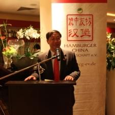 Botschafter SHI Mingde hielt eine launige Ansprache