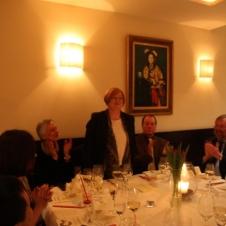 Frau Dr. Brigitte Meissner, Mitgliedsverwaltung, in fröhlicher Runde