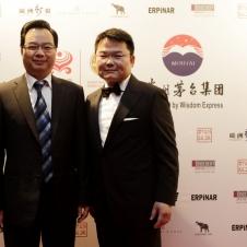 Chinesischer Generalkonsul Sun Congbin und Präsident der HCG Qiuyi Chen