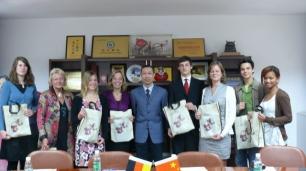 Begrüßung der Delegation bei PAFFC Sicuan